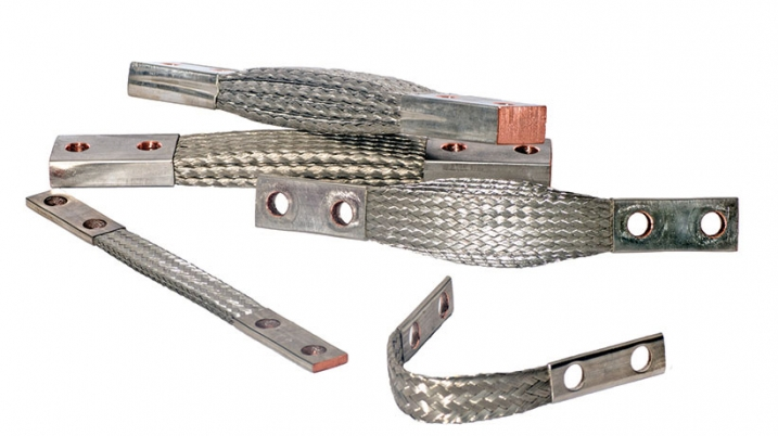 Braided flexible connectors, jumpers