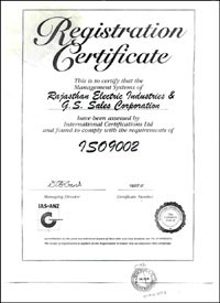 Rajasthan Electric Industries Award